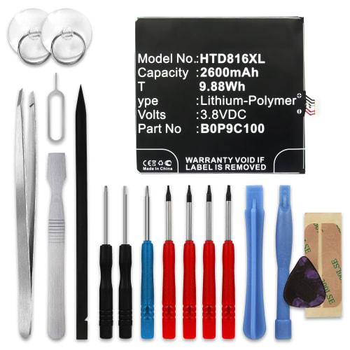 Batterie pour HTC Desire 816 - (2600mAh) + Set de micro vissage, Batterie de remplacement
