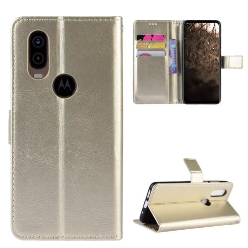 Etui pour Motorola One Vision - Cuir PU, d'or Etui,Housse, Coque, Pochette