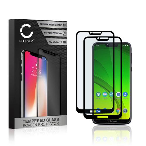 2x Protection d'écran en verre Motorola Moto G7 Power (3D Full Cover, 9H, 0,33mm, Full Glue) Verre trempé
