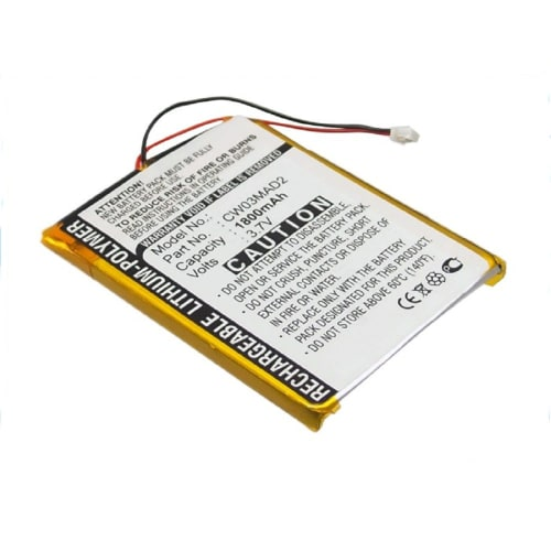 Batterie pour Cowon PMP D2, Cowon PMP D2+, Cowon PMP D2 DAB - CW03MAD2 (1800mAh) Batterie de remplacement
