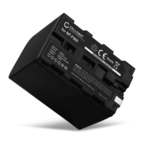 Battery for Sony DSR-PD150, -PD170, FDR-AX1, DCR-VX2100, GV-D200, HDR-FX7e, -FX1, -FX1000 - NP-F960, NP-F970 (6600mAh) Replacement battery