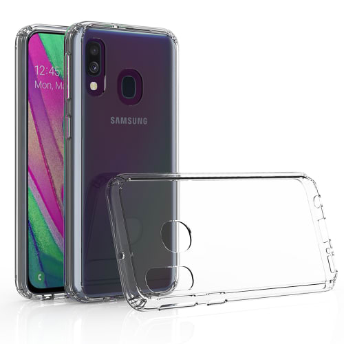 Back Cover for Samsung Galaxy A40 (SM-A405) - Silicone, Crystal Clear Case