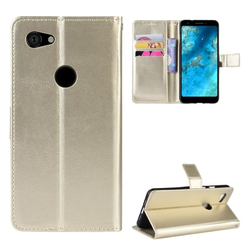 Case for Google Pixel 3a - PU Leather, Golden Case