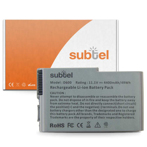 Batterie pour Dell Inspiron 500m / 510m / 600m / Latitude D500 / D505 / D510 / D520 / D530 / D600 / D610 - C1295 (4400mAh) Batterie de remplacement