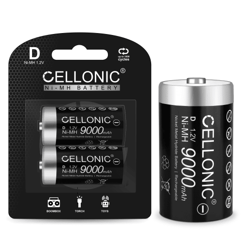 Cellonic® Uppladdningsbara batterierr D / Mono Cellonic 2x
