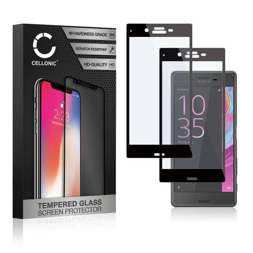 2x Panzerglas Sony Xperia X Compact (3D Full Cover, 9H, 0,33mm, Edge Glue) Displayschutz Tempered Glass