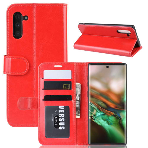 Case for Samsung Galaxy Note 10 (SM-N970) - PU Leather, Red Case