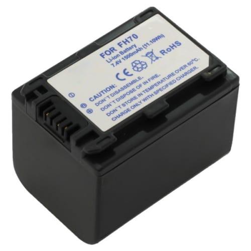Batterie pour Sony HDR-CX105, -CS505, -CX11, HDR-SR12, -SR11, -SR10, HDR-HC9, -HC3, HDR-XR520, DCR-SX30, DCR-SR55, DCR-HC23 - NP-FH100,NP-FH60,-FH50 (1300mAh) Batterie de remplacement