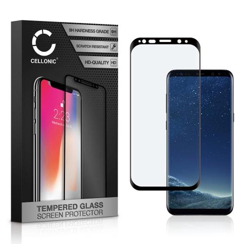Panzerglas Samsung Galaxy S8 (SM-G950 / SM-G950F) (3D Full Cover, 9H, 0,33mm, Full Glue) Displayschutz Tempered Glass