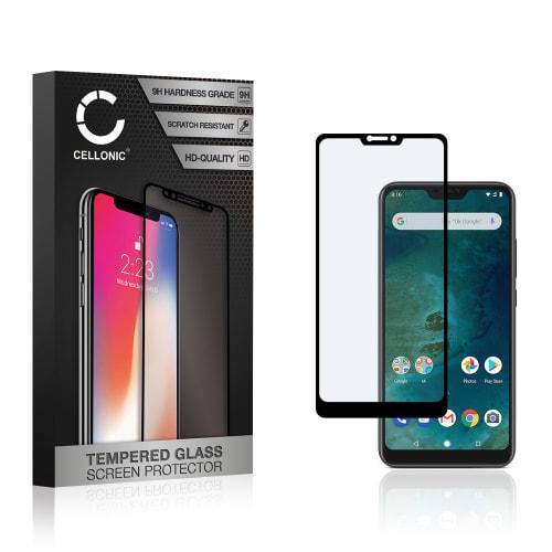 Protection d'écran en verre Xiaomi Mi A2 lite (3D Case-friendly, 9H, 0,33mm, Full Glue) Verre trempé