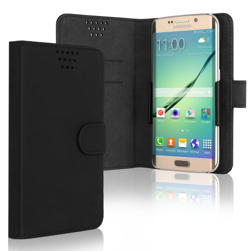 Phone case for smartphones measuring 16.3*8.3*1.0cm (Cover) black
