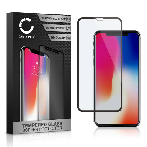 Displaybeschermglas Apple iPhone X (3D Full Cover, 9H, 0,33mm, Full Glue) Tempered Glass
