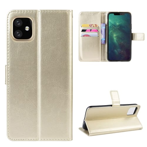 Case for iPhone 11 Pro Max - PU Leather, Golden Case