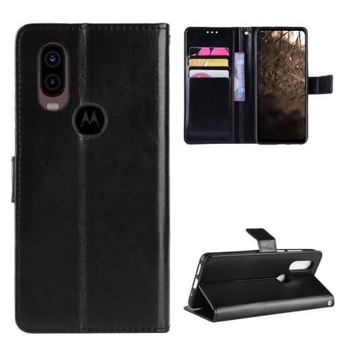 Etui pour Motorola One Vision - Cuir PU, noir Etui,Housse, Coque, Pochette