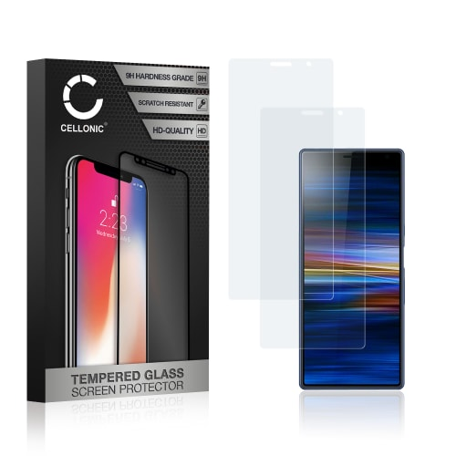2x Protection d'écran en verre Sony Xperia 10 Plus (3D Full Cover, 9H, 0,33mm, Edge Glue) Verre trempé