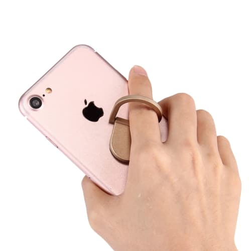 Finger-ring holder for smartphones, golden