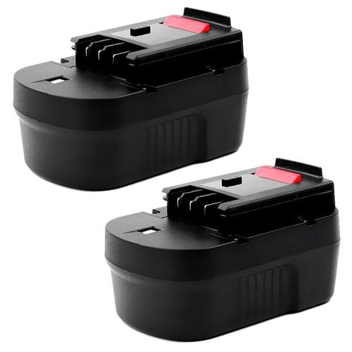 2x Batterij 14.4V, 3Ah, NiMH voor Black & Decker CD14S / CD14SFK / CL14 / CL14K / CP14 / CP14K / CP141 / CP141K - A14, A1714, HPB14 vervangende accu