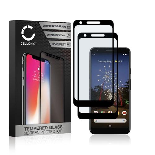 2x Panzerglas Google Pixel 3a XL (3D Case-friendly, 9H, 0,33mm, Edge Glue) Displayschutz Tempered Glass