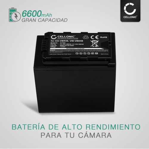 reemplaza: vw-vbd29 batería Panasonic aj-px270 6600mah vw-vbd78 7.4v vw-vbd58 hc-x1000