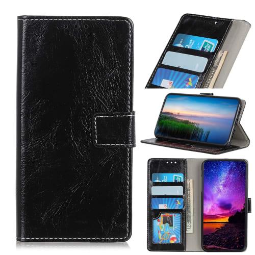 Cover a libro per Huawei P Smart Z - Similpelle, nero Custodia, Borsa, Guscio