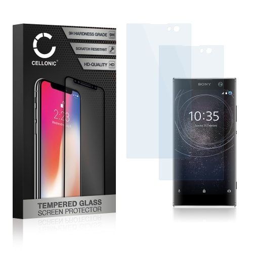 2x Screen protector glass Sony Xperia XA2 (3D Full Cover, 9H, 0,33mm, Edge Glue) Tempered Glass