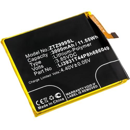 Batterie pour ZTE Axon M - Li3931T44P8h686049 (3000mAh) , Batterie de remplacement