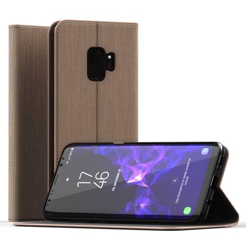 Handytasche für Samsung Galaxy S9 (SM-G960) - PU Leder, gold Tasche, Case, Etui, Hülle