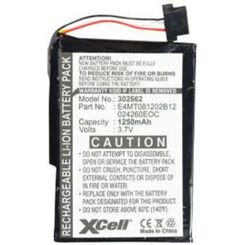 Batterie pour Medion GoPal P4410, Medion MD95300 MD96205 MD96220, Navigon 7110 7100, Mitac Mio C210 - 11-B0001MX,BPLP1200 11-B0001MX,E3MC07135211,027260EOC,E4MT081202B12 (1250mAh) Batterie de remplacement