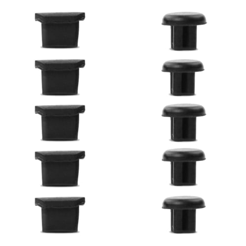 5x Universal Staubschutz-Abdeckung für microUSB und 3,5mm Audio Anschluss