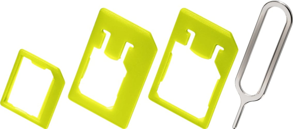 SIM card adaptor organiser set
