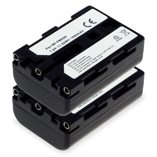 2x Batterie pour Sony DSC-F707, -F717, -F828, DSC-R1, DSLR-A100, DSC-S30, -S50, -S70, -S75, MVC-CD250, Cyber-Shot - NP-FM55H,NP-FM50,NP-QM51 (1600mAh) Batterie de remplacement