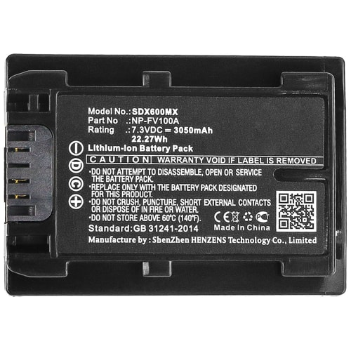 Battery Replacement for Sony HDR-CX625 HDR-CX625 HDR-CX680 HDR-PJ620 HDR-PJ675 NEX-VG30 Record