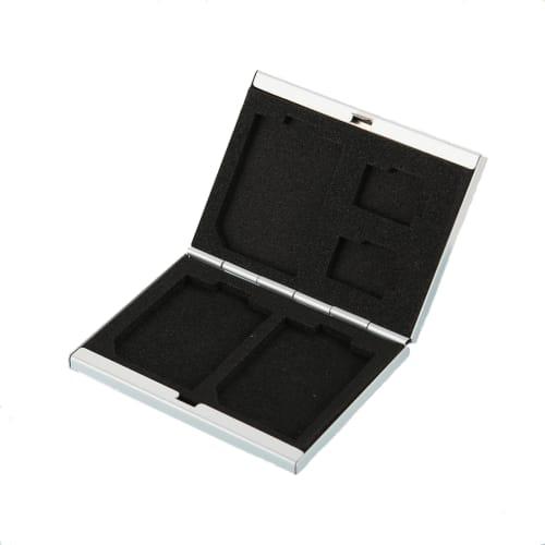 SD Karten Aufbewahrung 5 in 1 für micro SD & SD - Aluminium, silber