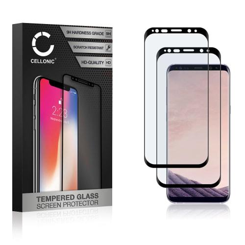 2x Panzerglas Samsung Galaxy S8 Plus (SM-G955 / SM-G955F) (3D Full Cover, 9H, 0,33mm, Full Glue) Displayschutz Tempered Glass