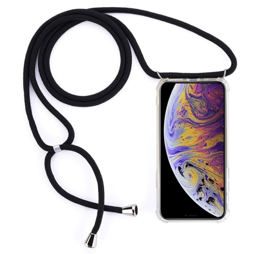 Smartphone necklace for Apple iPhone 11 Pro Max - Silicone, Crystal Clear Case