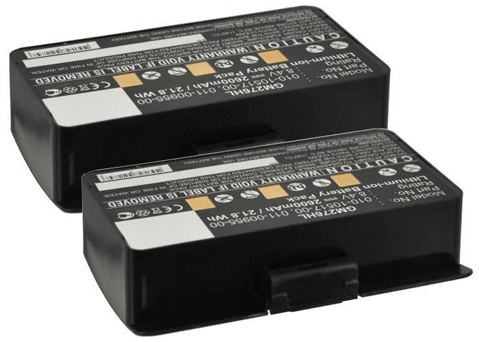 2x Batterij voor Garmin GPSMAP 276, 296 GPSMAP 376, 376c, 378, 396 GPSMAP 478, 495, 496 - 010-10517-00,010-10517-01,011-00955-00 (2600mAh) vervangende accu