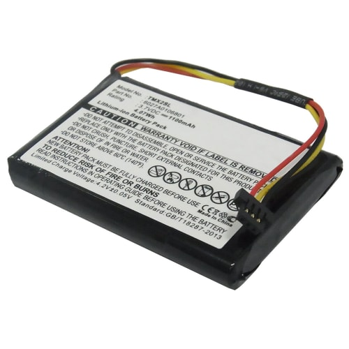 Battery for TomTom 4EM0.001.02, 4ET0.002.02, 4ET03, TomTom XL Holiday, XL IQ Routes Live, XL IQ Routes Regional / Europe Live - 6027A0106801 (1100mAh) Replacement battery