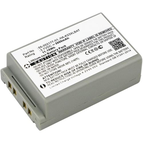 Batería para Casio DT-X200 DT-X200-10E DT-X200-20E DT-X8 DT-X8-10C DT-X8-10C-CN DT-X8-10E DT-X8-10J DT-X8-20C DT-X8-20E DT-X8-20J - 55-002177-01,HA-K23XLBAT (3000mAh) Batería de Reemplazo