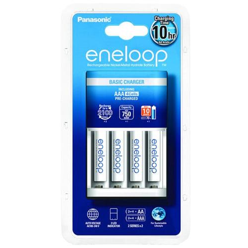 Panasonic Eneloop BQ-CC18 Basic oplader incl. 4x AAA Eneloop BK-4MCCE