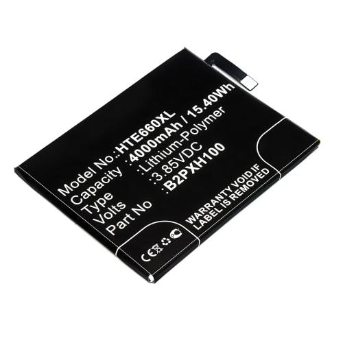 Batterij voor HTC One X10 - 35H00264-00M,B2PXH100 (4000mAh) vervangende accu
