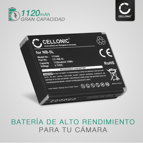 Batería 1120mah para Canon Digital IXUS 850 is Digital IXUS 860 is