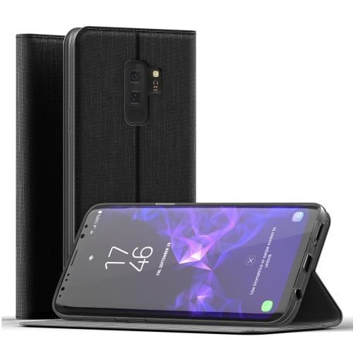 Handytasche für Samsung Galaxy S9 Plus (SM-G965) - PU Leder, schwarz Tasche, Case, Etui, Hülle