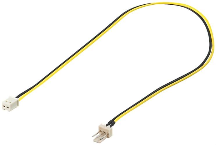 PC Lüfter Stromkabel/Stromadapter - Lüfter-Stecker (3-Pin) > Lüfter-Buchse (2-Pin)