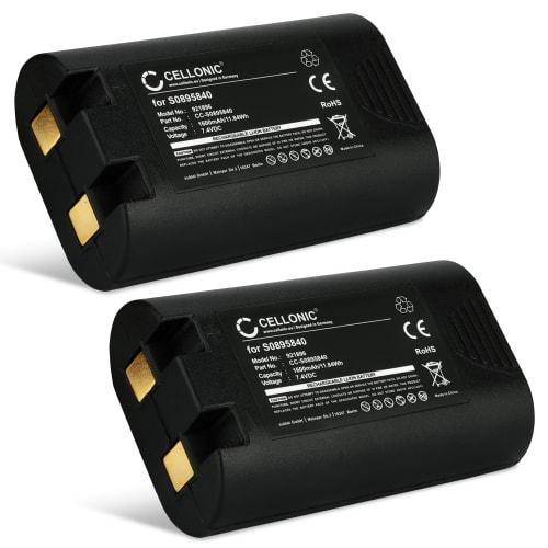 2x Akku für DYMO LabelManager 360D, LabelManager 420P, Rhino 4200, Rhino 5200, 3M PL200 - S0895840,W002856 (1600mAh) Ersatzakku