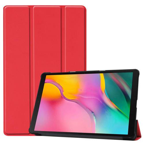 Étui pour Samsung Galaxy Tab A 10.1 2019 (SM-T510 / SM-T515) - Cuir synthétique, rouge Housse Pochette