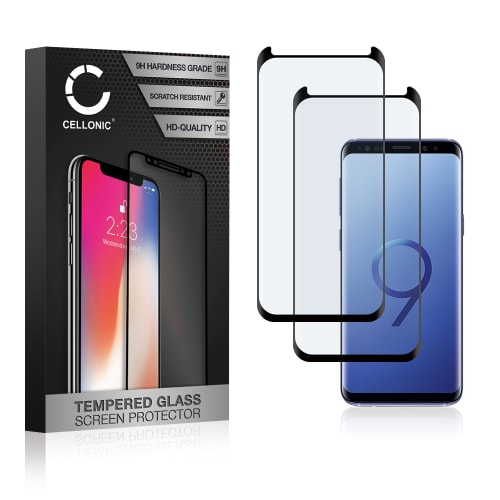 2x Panzerglas Samsung Galaxy S9 (SM-G960) (3D Case-friendly, 9H, 0,33mm, Full Glue) Displayschutz Tempered Glass