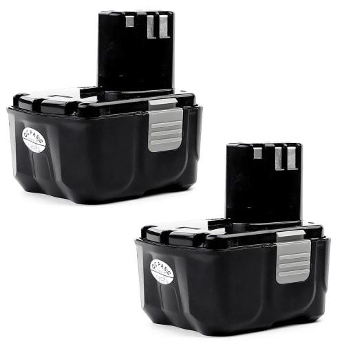 2x Batterie 14.4V, 3Ah, Li-Ion pour Hitachi DS 14DFL / DS 14DL / DV 14DL / DH 14DL / WH 14DL / WR 14DL / G 14DL - BCL1415, BCL1430 batterie de remplacement
