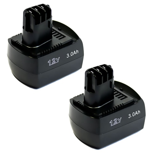2x Battery 12V, 3Ah, NiMH for Metabo ULA 9.6-18 / BZ 12 SP / BS 12 SP / BSZ 12 / SSP 12 - 6.25473, 6.25474, 6.02151.50 replacement battery