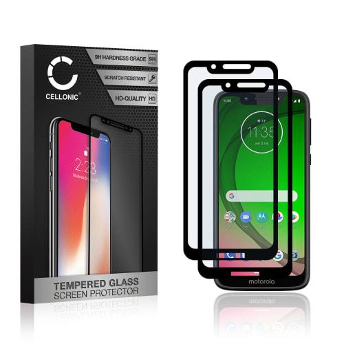 2x Protection d'écran en verre Motorola Moto G7 Play (3D Full Cover, 9H, 0,33mm, Full Glue) Verre trempé