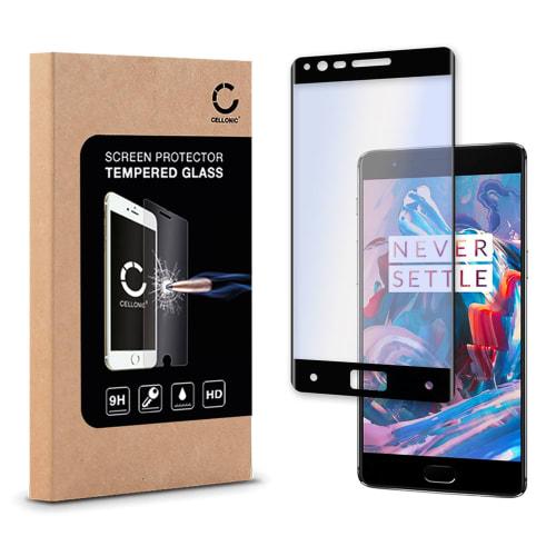 Protection d'écran en verre pour Oneplus 3 (A3000) - Tempered Glass (Qualité HD / 3D Full Cover / 0,33mm / 9H)
